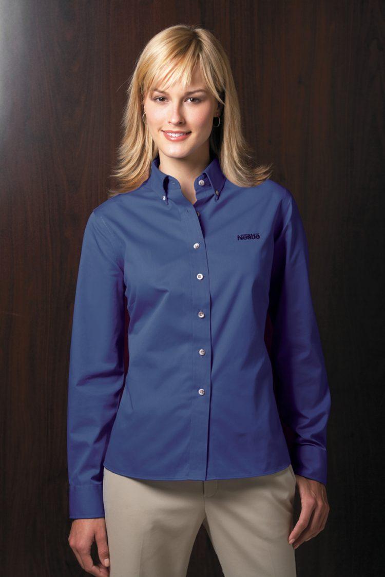 Forsyth Twill - Ladies FREEDOM Button Down Collar
