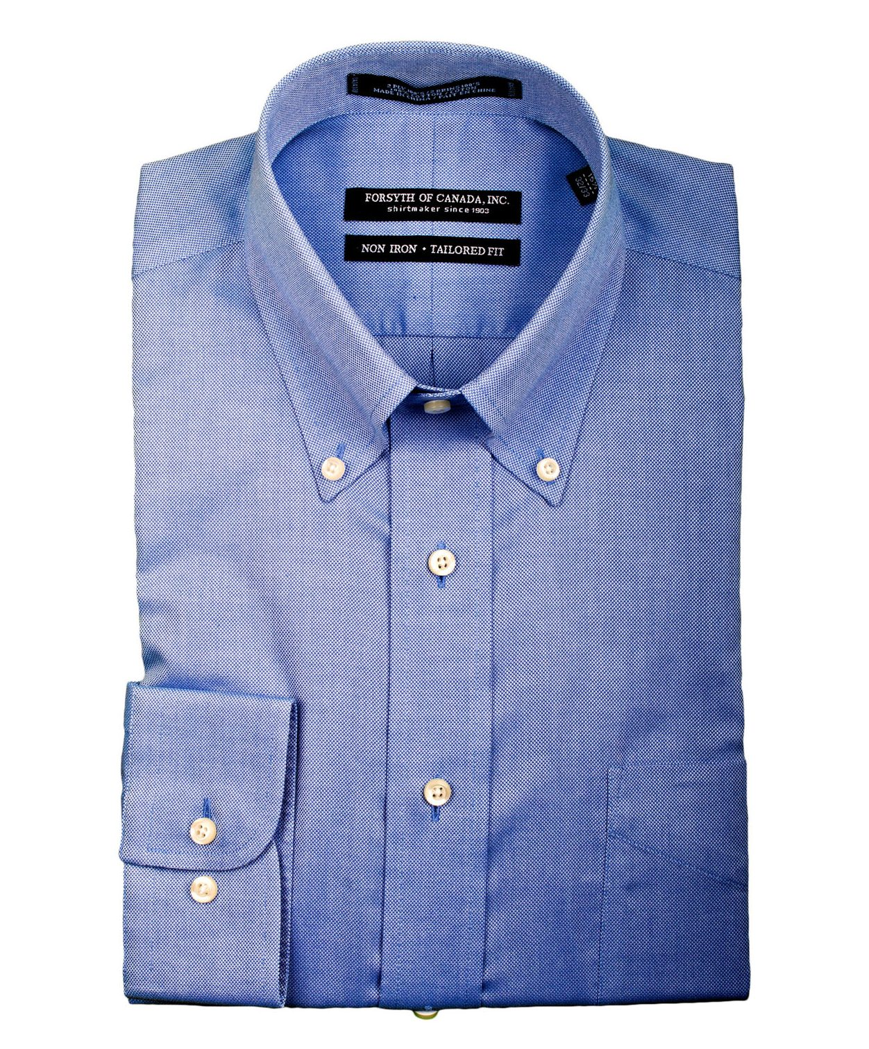 Forsyth Royal Oxford - Mens Button Down Collar (Tailored Fit)